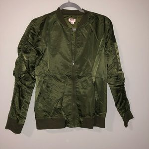 Mossimo - Olive Green Lightweight Bomber Jacket
